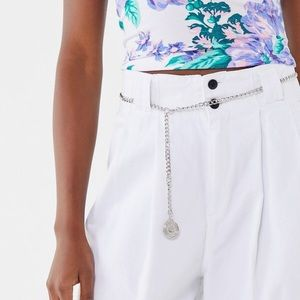 Urban Outfitters Pendant Chain Belt Silver